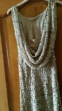 Debut/Debenhams gold formal wedding fishtail sequinned races  party dress 8