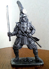 Tin figure Samurai Kato Kiyomasa, 1590-ies. Japan Metal sculpture Toy