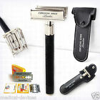 Butterfly Safety Razor & 20 Gillette Double Edge Blades Classic Shaving Vintage