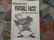 1959 MICHIGAN STATE SPARTANS FOOTBALL MEDIA GUIDE Yearbook College MSU Book AD