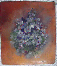 VINTAGE - ANTICA - PLACCA IN RAME DIPINTA AD OLIO -OLD PLATE COPPER PAINTING OIL