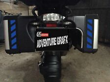 ELECTRIC BLUE REFLECTIVE VARIO SAFETY CHEVRONS TO FIT BMW R1200GS VARIO PANNIERS
