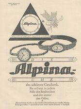 Y6537 ALPINA Uhren -  Pubblicità d'epoca - 1927 Old advertising