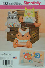 Simplicity 1182 Sewing PATTERN for Stuffed ANIMALS & MONSTERS in 5 Designs *NEW*