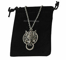 D1 Wolf Lobo Colgante De Plata Collar Sobrenatural Vampire Diaries True Blood