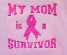 Pink Awareness Ribbon Sweatshirt 3XL My Mom is a Survivor Crew Neck Cancer New