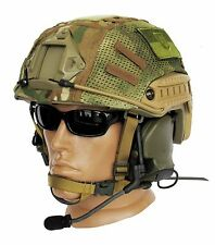 "Ballistic IIIA Bullet Proof Helmet High Cut + DISK + cover ""Multicam"""