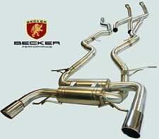 BECKER Cat back Exhaust Fits 07 08 09 10 BMW 335i E92 Twin Turbo N54 2Dr 3.0L