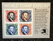 USA1989  #2433  90c  World Stamp Expo '89 Souvenir Sheet - Mint NH