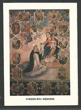 Estampa de la Virgen del Rosario andachtsbild santino holy card santini