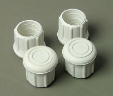 "4 Pack 1-1/4"" Rubber Tips- Cane, Crutch or Chair- White         CT-1.25W"