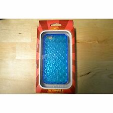WoW Diamond Pattern Case Blue For iPhone 5 5S SE Clear/Blue Tinted Brand New 4E