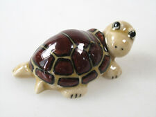 Handicraft Porcelain Miniature Collectible Ceramic Brown Sea Turtle Figurine