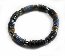 Surfer Beach Street Bracelet Blue Bead With Black Wooden Beads High Quality