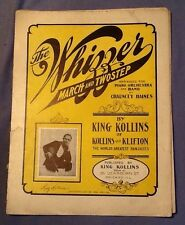 ultra rare 1907 THE WHIZZER March TWO STEP Piano KING COLLINS Chicago C. Haines