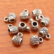 100 Pieces 2mm Hole Charms connector pendant For Necklace Tibetan Silver 7075H