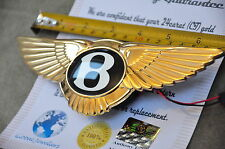 24K Gold Plated Bentley Continental Mulsanne GT GTC Boot Badge Electronic Push