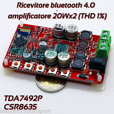RICEVITORE AUDIO BLUETOOTH 4.0 AMPLIFICATORE CLASSE D 20Wx2 TDA7492P wireless
