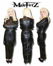 Misfitz leatherlook hobble buckle strait jacket dress sizes 8-32/made to measure