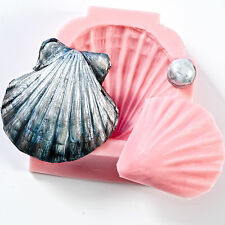 Clam Shell Seashell Mold Cake Decorating Fondant Sugar Sculpey Fimo Resin  (809)