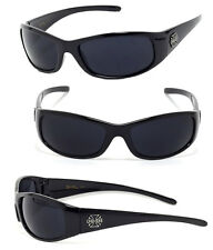Mens Choppers Outdoors Bikers Sport Motocycle Wrap Sunglasses - Black C24 Cross