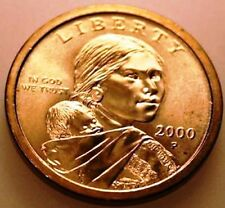 2001D, 2010D & 2000P - UNCIRCULATED GOLDEN SACAGAWEA DOLLARS, All Three Coins