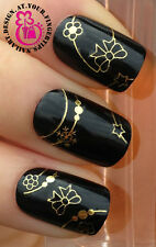 NAIL ART WRAP WATER TRANSFERS STICKERS DECALS GOLD DOT SNOWFAKES STAR STRIPS #14