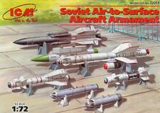 SOVIET AIR-TO-SURFACE ARMS (to MiG 23/27/29/33/35 Su 22/24/25/27/30/33) 1/72 ICM