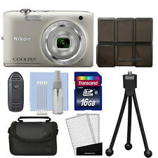 Nikon Coolpix S2800 20.1 MP Digital Camera 5x Optical Zoom Silver