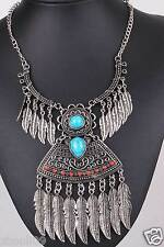 New woman Statement flower crystal chunky pendant chain charm necklace Q1153