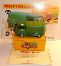 DINKY TOYS ATLAS PICK-UP RENAULT ESTAFETTE BACHEE VERTE 1960 1/43 REF 563 IN BOX