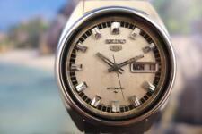 Classic Grey Dial 37mm Seiko 5 model 7009 3040 Stainless Day/ Date Automatic