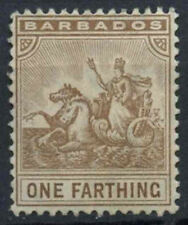 Barbados 1909-10 SG#163, 1/4d Seal Of Colony MH #D11298
