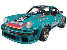 PORSCHE 934 RSR VAILLANT #9 GREEN 1/18 DIECAST MODEL BY SCHUCO 450033600