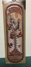 """Welcome to the Nut House"" Metal Thermometer Tin 17"" x 6"" 3D embossed   #s19"
