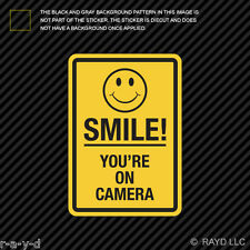 Smile You're On Camera Sticker Decal Self Adhesive Vinyl shop window cctv #2