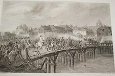 NAPOLEON PONT D'ARCIS SUR AUBE 1814 GRAVURE 1838 VERSAILLES R1255 IN FOLIO