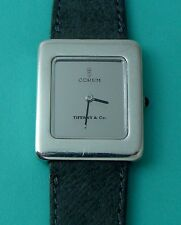 Vintage Tiffany & Co 925 Sterling Silver Corum Swiss Woman's Wrist Watch Rare