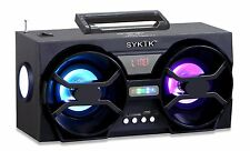 Sykik SP2091BT Mini Bluetooth Speaker Boombox FM Radio USB SD Card Rechargeable