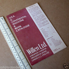 Vintage 1949 Catalogue of USA & European Magazines. Issued by Willen Ltd London