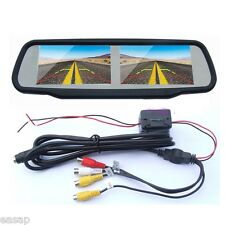 4.3 Inch Dual Screen Car Rear View Monitor Rear View Mirror 4ch Av-in