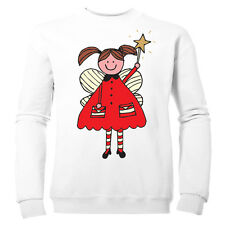 CUTE CHRISTMAS FAIRY GIRLS FESTIVE XMAS KIDS SWEATSHIRT
