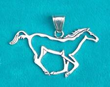 """""""WILD HORSE"""" NATIVE MADE STERLING SILVER PENDANT"""