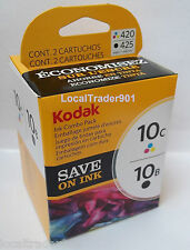 Kodak Color 10 10C Black 10B Ink Inkjet Cartridge Multi-Pack New In Box OEM