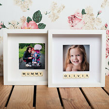 PERSONALISED PHOTO FRAME - YOUR NAME OR TITLE ADDED WITH SCRABBLE TILES
