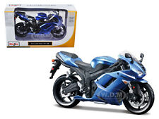 KAWASAKI NINJA ZX-6R BLUE BIKE 1/12 MOTORCYCLE MODEL BY MAISTO 31155