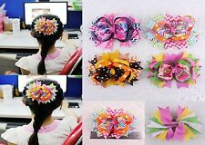 """Wholesale 4pcs baby girl  5""""  hairbows clips Boutique grosgrain ribbon 2023-1-4"""