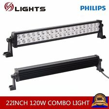 22inch 120W Philips Led Light Bar Spot&Flood Driving Atv Ute Suv Bar Offroad 4WD
