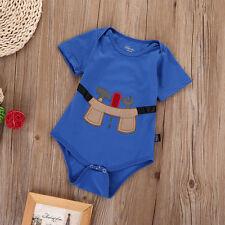 Newborn Infant Kids Baby Boy Girl Cotton Romper Jumpsuit Bodysuit Clothes 3-6M