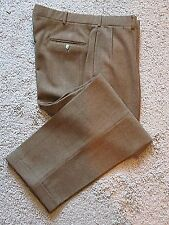 Polo Ralph Lauren Mens Brown Windowpane 100% Wool Tweed Pants - 36 x 30